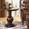 Powell Round Accent Table, Espresso