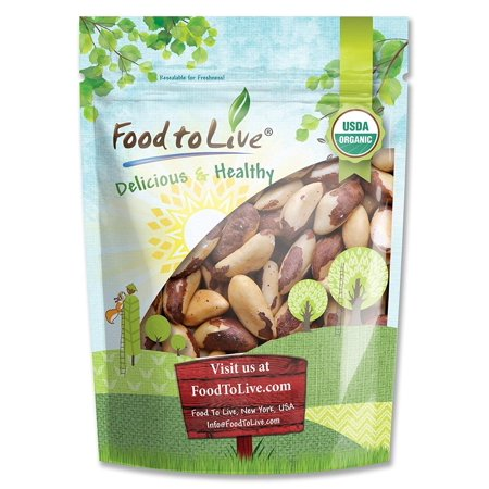 Shell Nut - Food To Live Organic Brazil Nuts (Raw, No Shell) (2 Pounds)