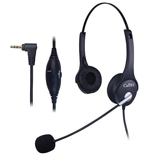 Comdio Callez Cordless Phone Headset Dual 2 5mm Telephone Headset With Noise Cancelling Mic Compatible For Panasonic Polycom Walmart Com Walmart Com