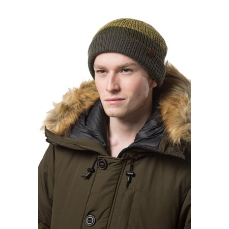 Gallery Seven Mens Knit Winter Beanie Hat - Knit Watch Cap - Gift Pack - Olive - Beanie Gift