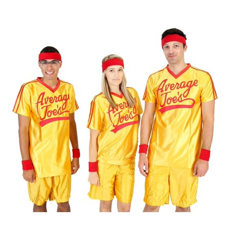 Man In The Yellow Hat Costume (Dodgeball Average Joe's Adult Yellow Jersey Costume)
