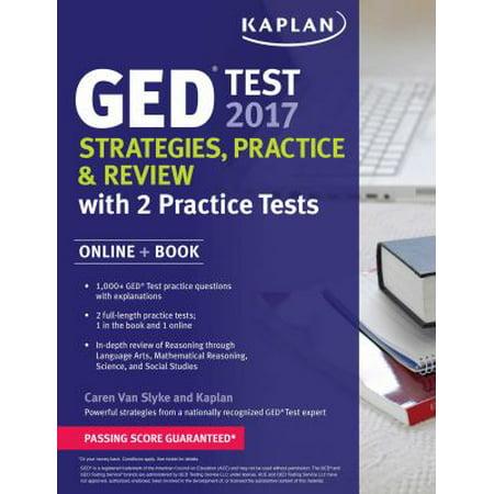 Kaplan Ged Test 2017   Online Website  Strategies  Practice   Review