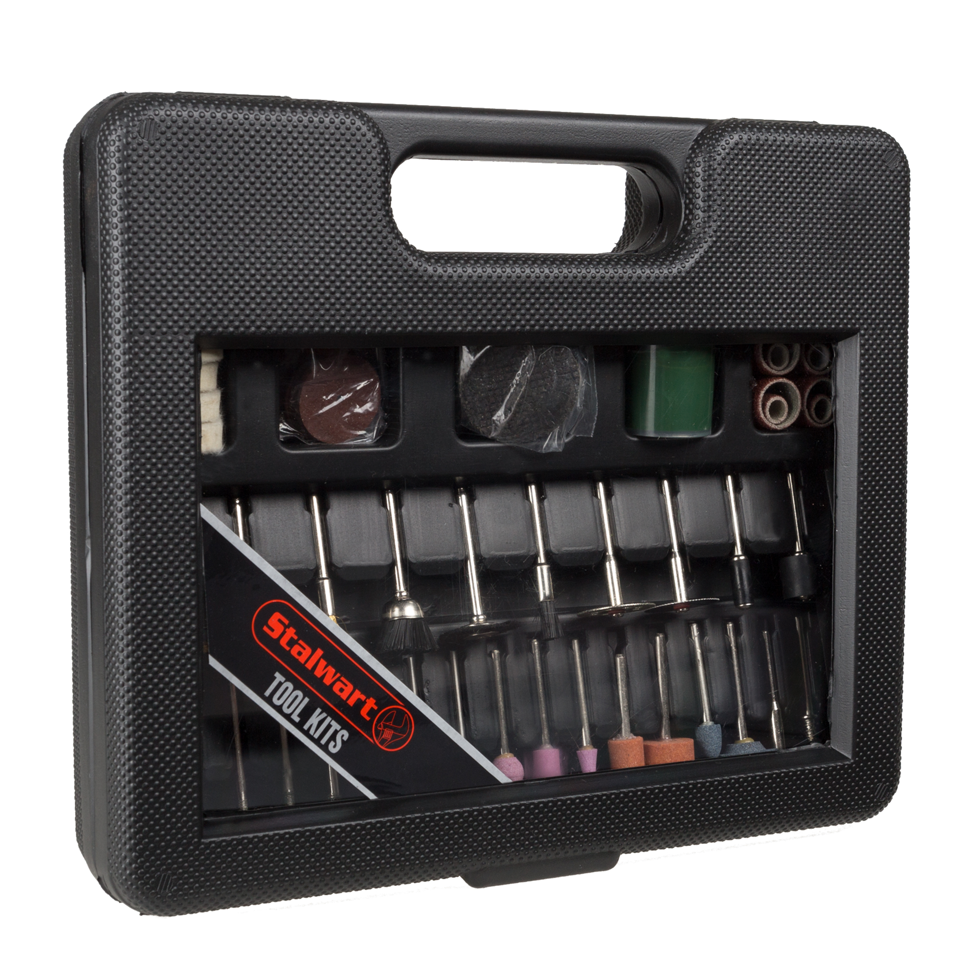 Stalwart 100-Piece Rotary Tool Accessories Kit With Carry Case