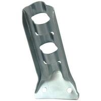 "U.S. Flag Store Stamped Steel Flag Pole Bracket - For 1/2"" Pole Diameter - Silver"