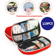 119Pcs Upgraded Survival Kit  Outdoor Emergency Backpack SOS Survival Kit  For Home Office Car Boat Camping Hiking First Aid