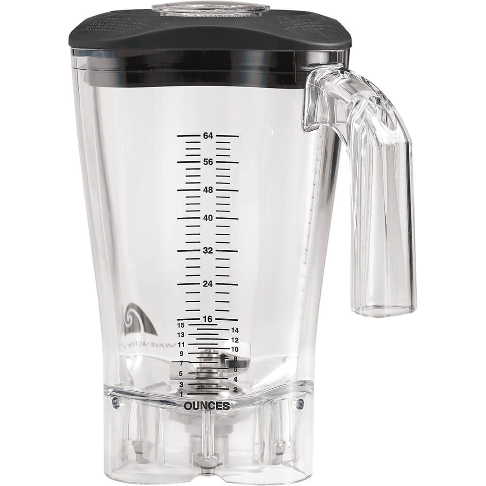 Hamilton Beach 64 Oz. Polycarbonate Blender Jar for Fury, Tempest & Summit Series, Clear, 6126-650