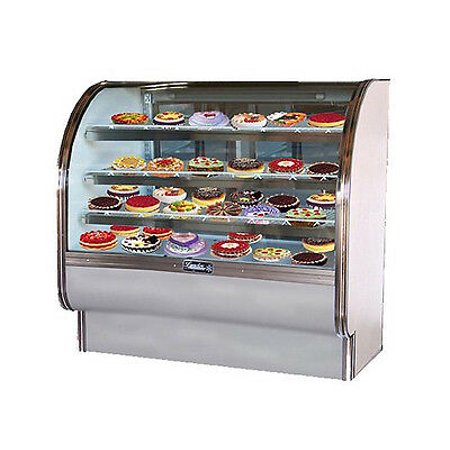 Leader CVK48, 48x35x50-Inch Refrigerated Bakery Display Case, Curved Glass,