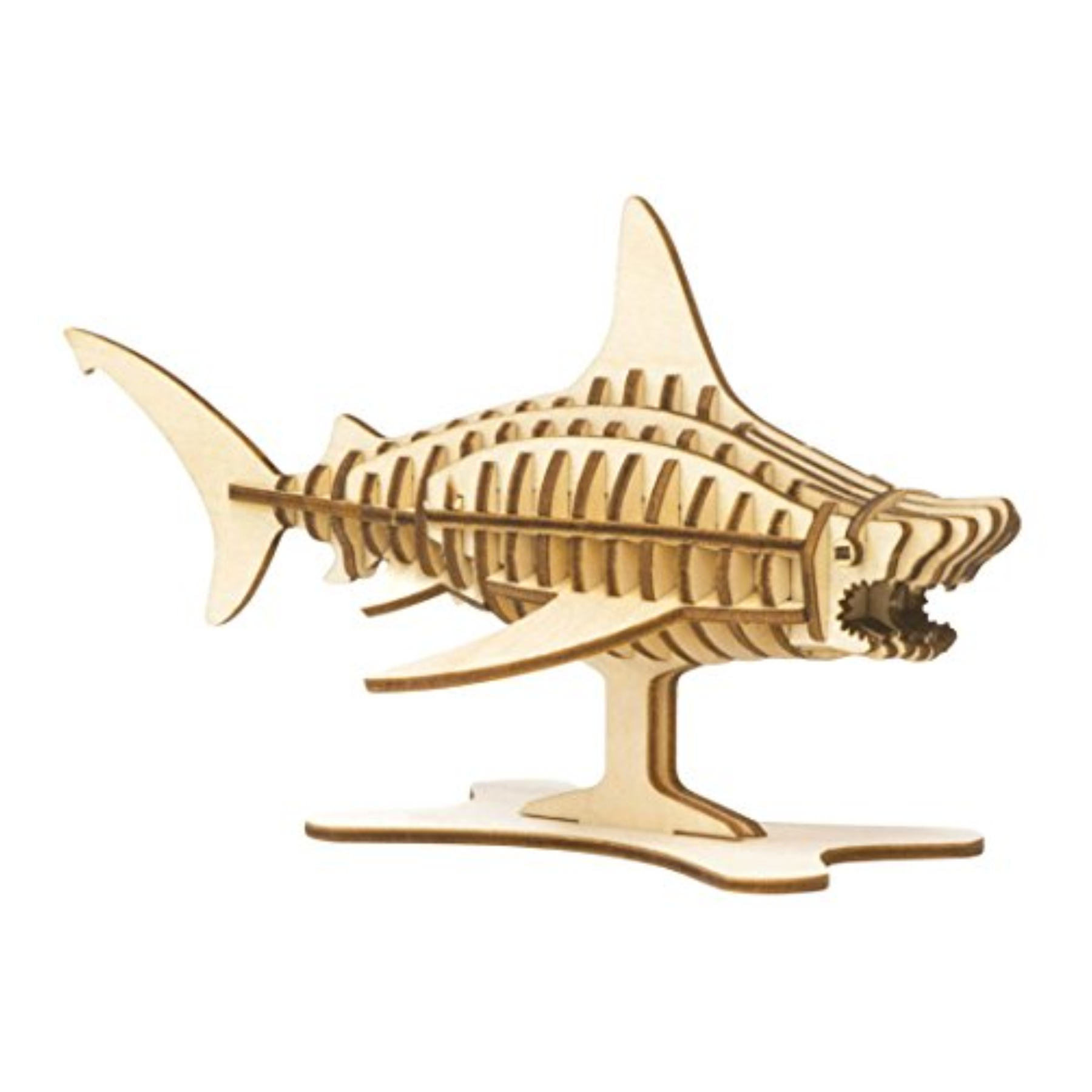Incredibuilds 3D Wood Puzzle Model Kit Great White Shark by Welcome To The Islands