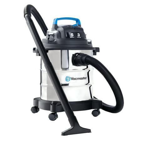Vacmaster 5 Gallon 3 HP Stainless Steel Tank Wet Dry Vacuum
