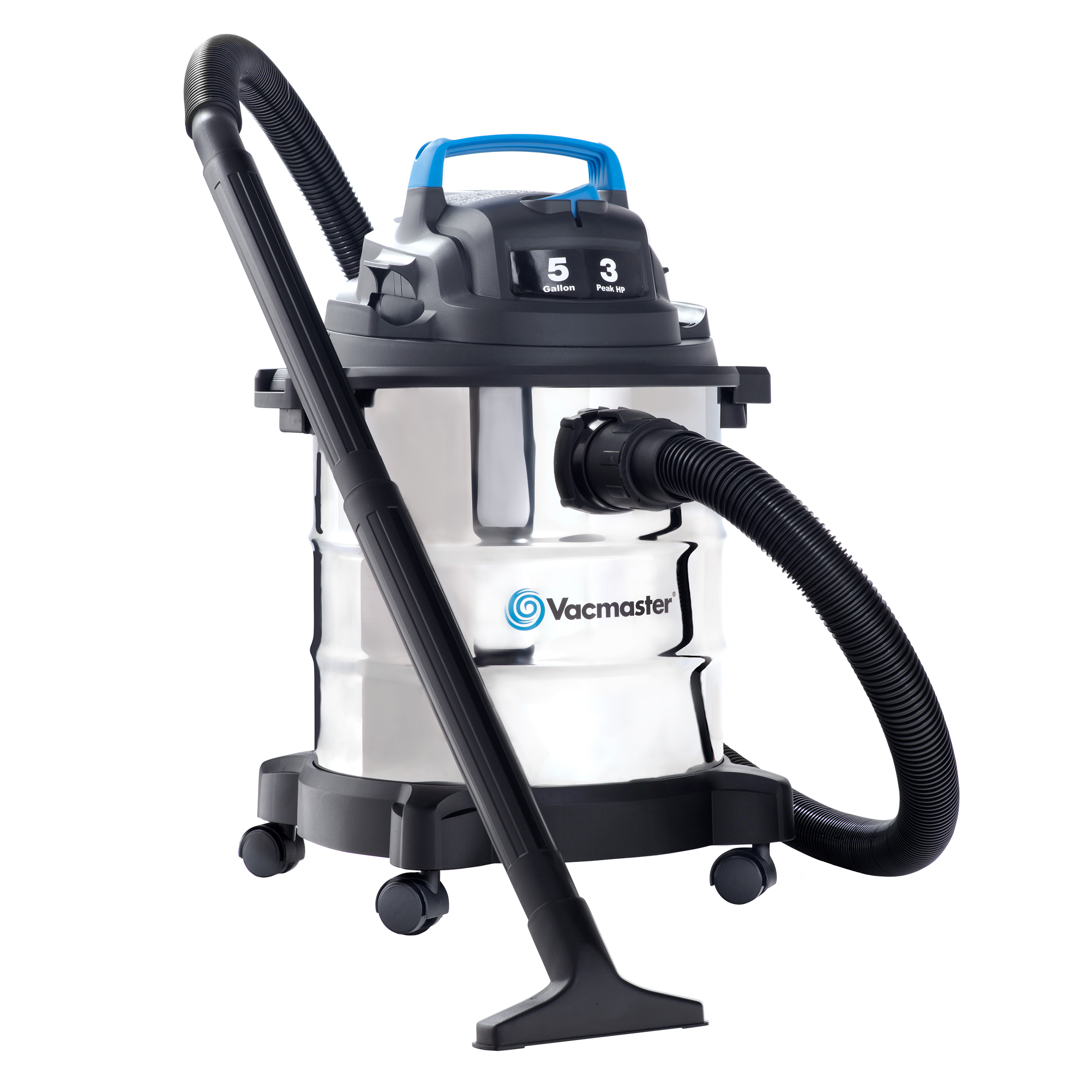 Vacmaster 5 Gallon, 3 HP Stainless Steel Tank Wet/Dry Vacuum