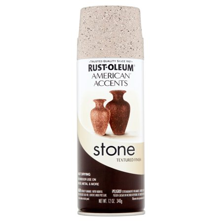 Rust-Oleum American Accents Stone Pebble Textured Finish Spray Paint, 12 oz (Uv Reactive Spray Paint)