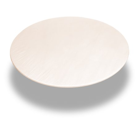 Carnation Home Fashions Ivory 60 Inch Round Fitted Vinyl Tablecloth (Fitted Tablecloths Round)