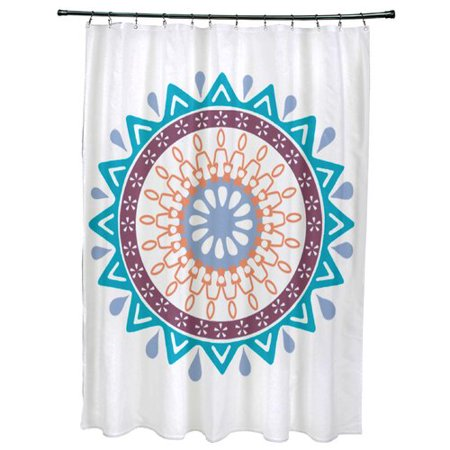 Bungalow Rose Meetinghouse Mod Geometric Print Single Shower Curtain