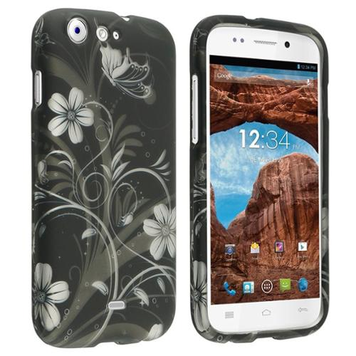 Insten White Flowers Colorful Patterns Hard Phone Case Snap-On Skin For BLU Life One L120