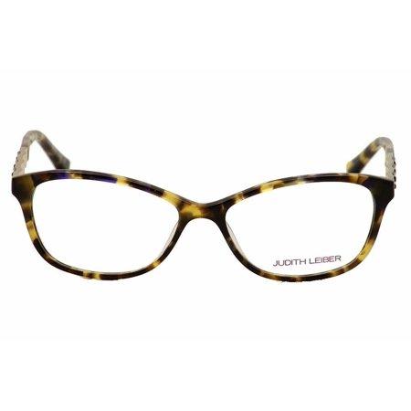 Judith Leiber Women's Eyeglasses JL1652 02 Rectangle Topaz Frames 53mm with (Judith Leiber Frames)