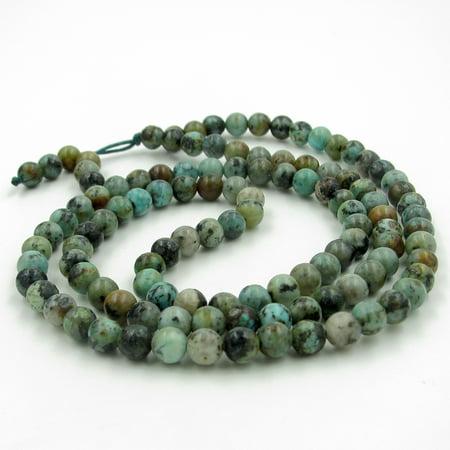 Tibetan 6mm 108 Stone Prayer Beads Buddhist Rosary Beaded Mala ()