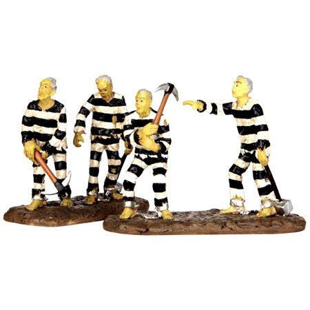Halloween Town 2 Online (Lemax 42209 CHAIN GANG Spooky Town Figurine Set of 2 Halloween Decor)