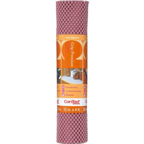 "Con-Tact Brand Grip Premium Non-Adhesive Shelf Liner, Brick, 12"" x 4'"