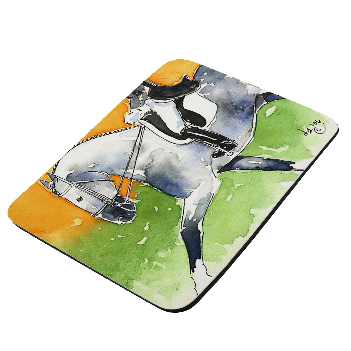 Dappled Gray Andalusian Dressage Horse Art by Denise Every - KuzmarK Mousepad / Hot Pad / Trivet