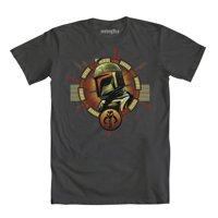 Star Wars Boba Fett Helmet Logo Mens Grey T-Shirt | S