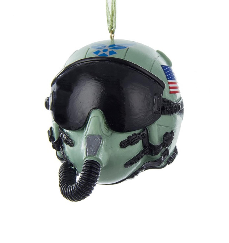"3.25"" U.S. Air Force Pilot Helmet Decorative Christmas Ornament"