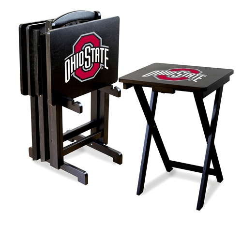 Imperial NCAA Folding TV Tray Set - Ohio State University