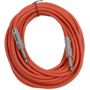 """Seismic Audio  - Red 1/4"""" TS 25' Patch Cable - Effects - Guitar - Instrument Red - SASTSX-25Red"""