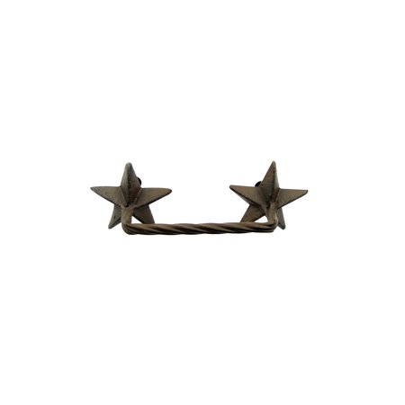 (Cast Iron Western Star Drawer Handle Cabinet Pull Rustic Style Hardware Handles)