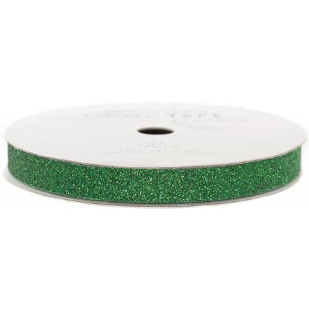 American Crafts Glitter Paper Tape 3yd-Evergreen .375