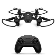 Amcrest Skylight Mini-Drone w/LED Light, Training Drone for Kids & Beginners, RC Helicopter Drone with Remote Control, Headless Mode, Altitude Hold, Stunt Flip (A3-B) Black