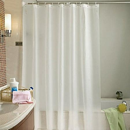 Home Mold Proof Translucent Waterproof Bathroom Bath Shower Curtain