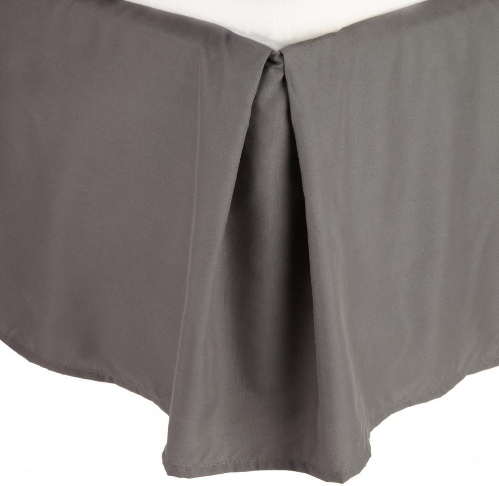 Clara Clark Solid Bedskirt Dust Ruffle King Size, charcoal Gray by Clara Clark