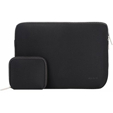 Mosiso Water Repellent Lycra Sleeve Bag Cover for 14-15 Inch 2017 / 2016 new MacBook Pro with Touch Bar A1707, Notebook Computer Ultrabook with Small Case, Black