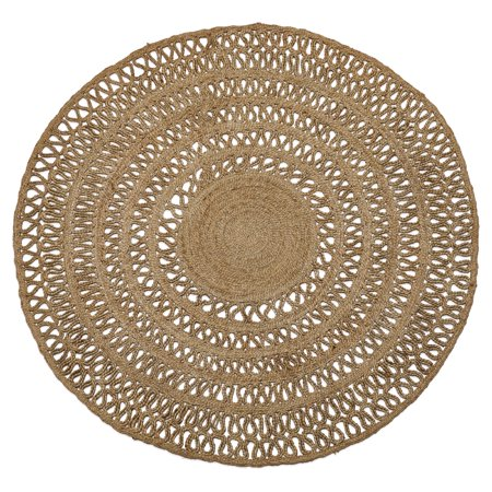 Round Jute Area Rug by Drew Barrymore Flower Home ()