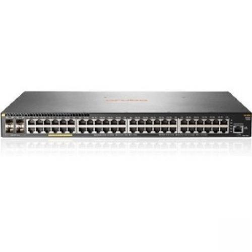 Aruba 2930F 48G PoE+ 4SFP 740W Switch 48 x Gigabit Ethernet Network, 4 x 10 Gigabit Ethernet Expansion Slot... by HP
