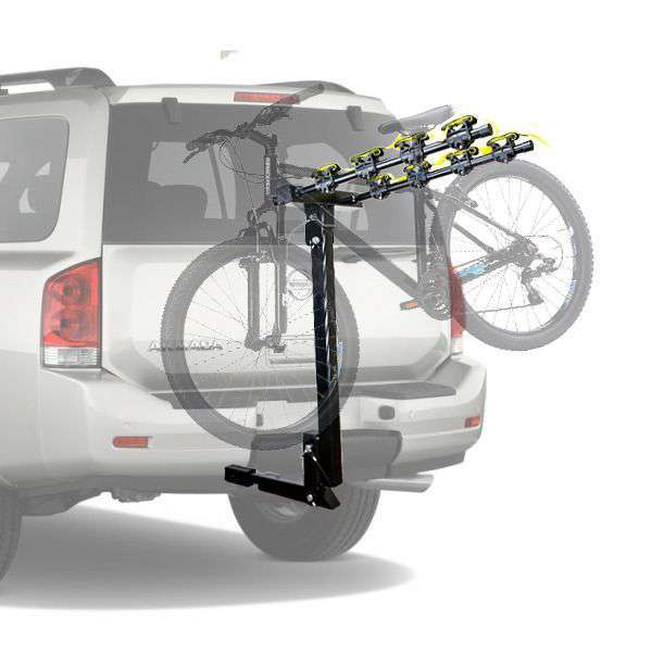 "4 Bicycle Bike Rack Hitch Mount Car Carrier 1.25"" Receiver with 2"" Adaptor by Cyclingdeal"