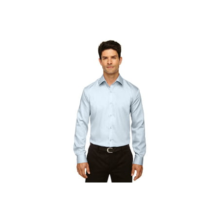 Ash City - North End Men's Boulevard Wrinkle-Free Two-Ply 80's Cotton Dobby Taped Shirt with Oxford Twill 100% Cotton Washed Oxford