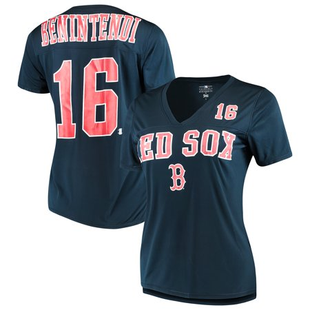 cf726f55243 Women s New Era Andrew Benintendi Navy Boston Red Sox Name   Number T-Shirt  - Walmart.com