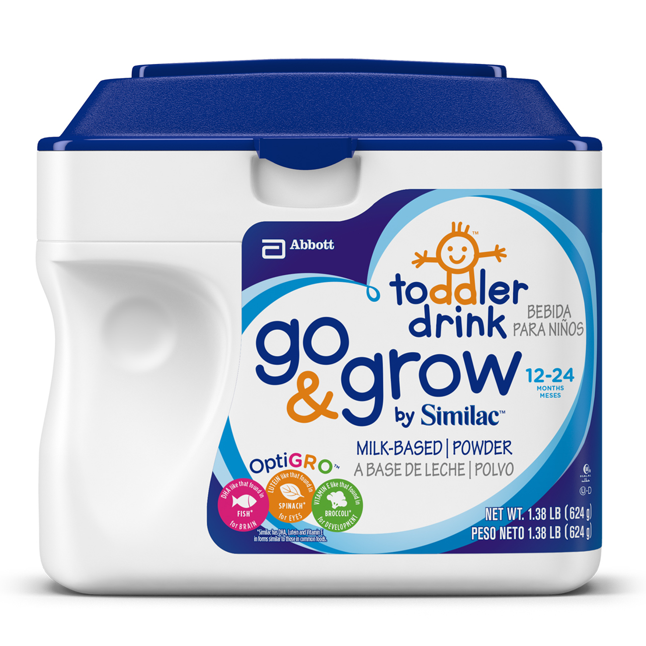 Go & Grow by Similac Milk-Based Toddler Drink, Powder, 1.38 lb (Pack of 6)