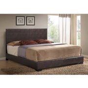 Ireland King Faux Leather Bed, Brown