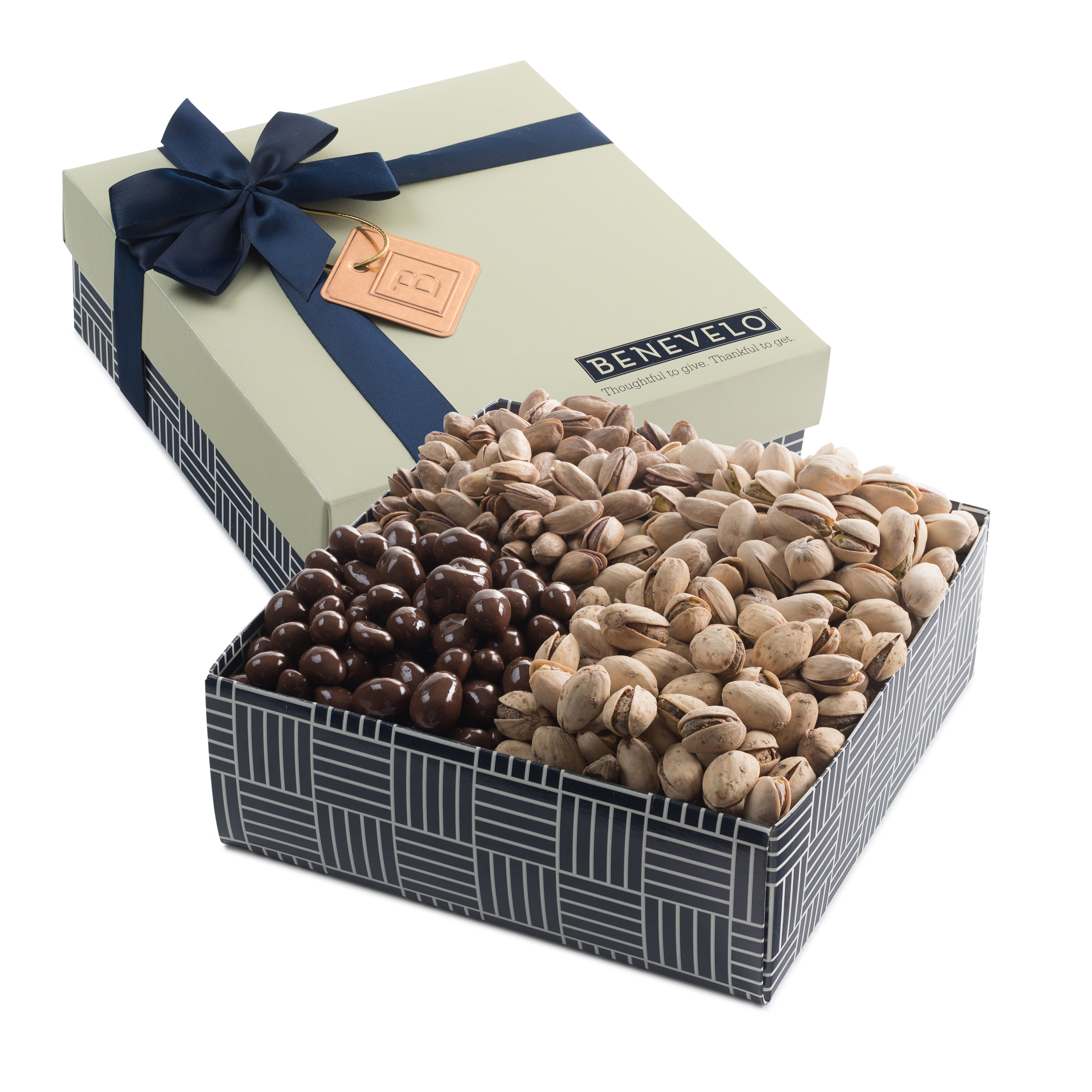 4 Section Gourmet Pistachio Assortment Gift Box, 1.5 Pound Benevelo Gift Box by