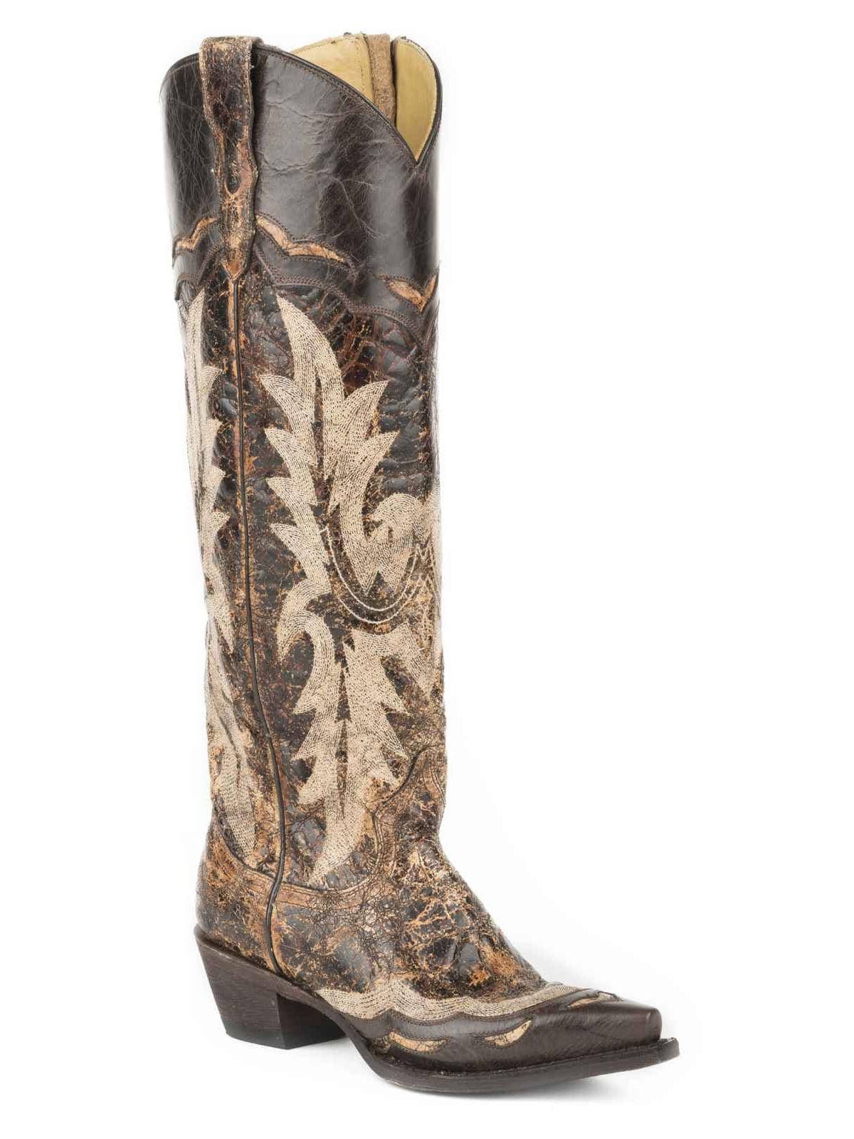 Stetson Women's Sadie Goat Side Zip Western Boot Snip Toe - 12-021-9105-0105 Br