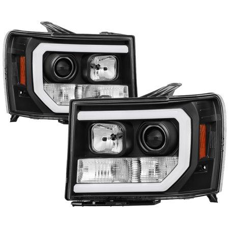 Sonar Light Bar DRL Projector Headlights (Black) - 07- 13 GMC Sierra (Incl. Denali & Hybrid)
