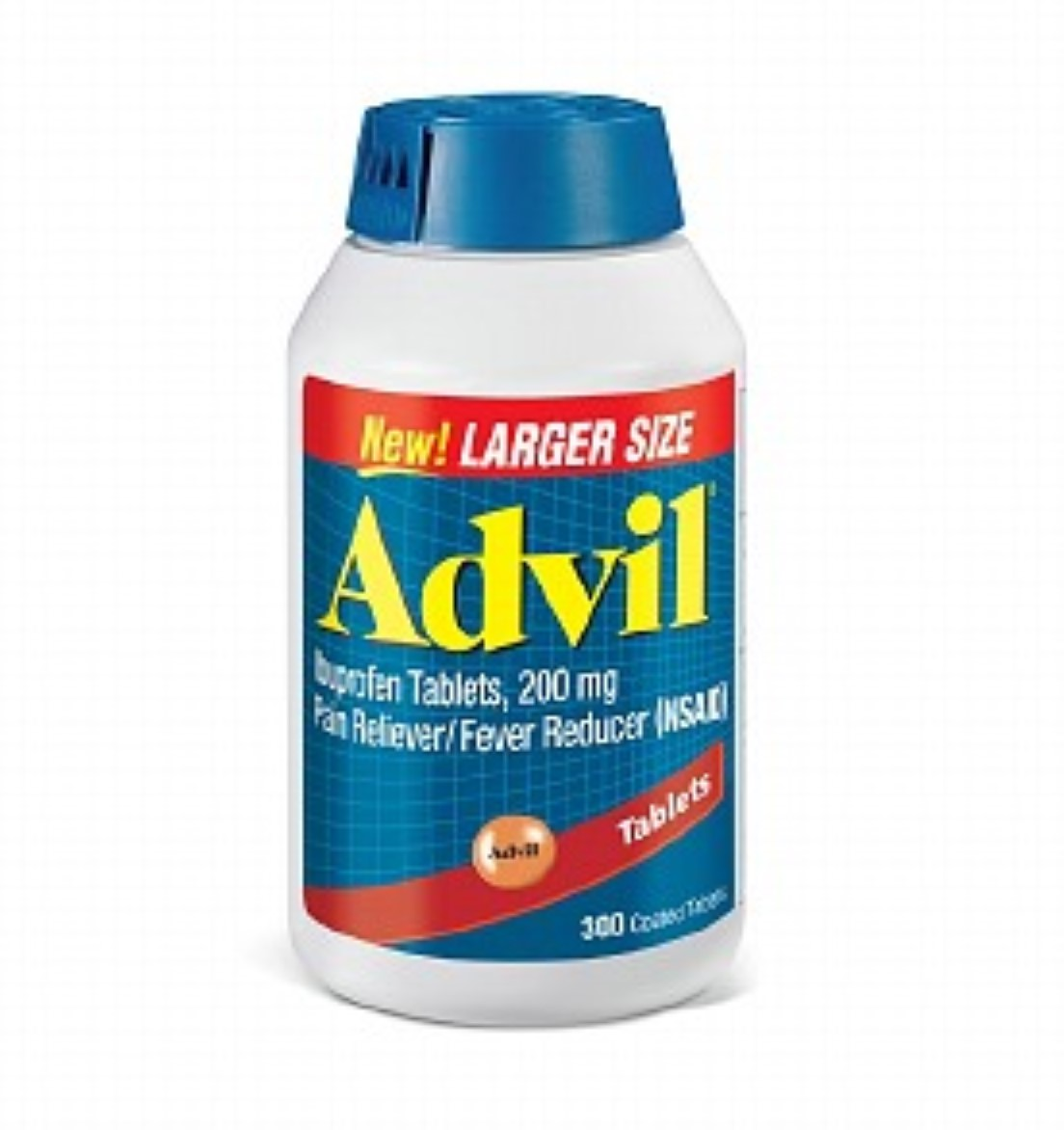Advil Ibuprofen Coated Tablets, 200mg 300 tabs (Pack of 2)