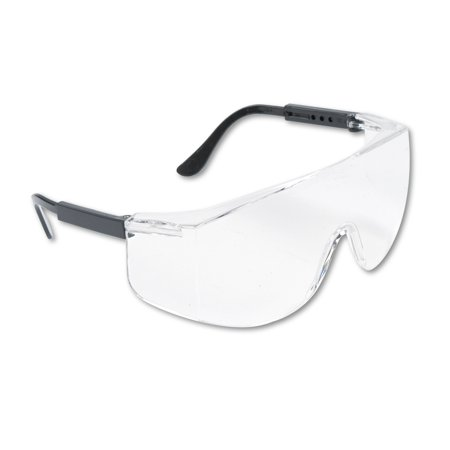 MCR Safety Tacoma Wraparound Safety Glasses, Black Plastic Frame, Clear Lens Astro Otg 3001 Safety Glasses