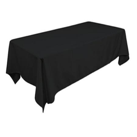 Black Fabric Tablecloth (TEKTRUM 70 X 104 INCH 70