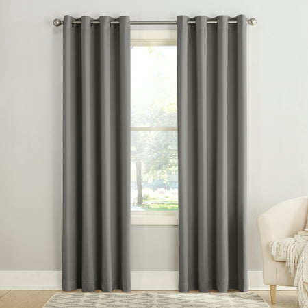 "63""x54"" Seymour Energy Efficient Grommet Room Darkening Curtain Panel Steel - Sun Zero"