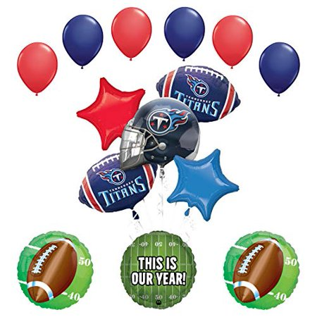 Mayflower Products Titans Football Party Supplies This is Our Year Balloon Bouquet Decoration (Tennessee Titans Party Supplies)