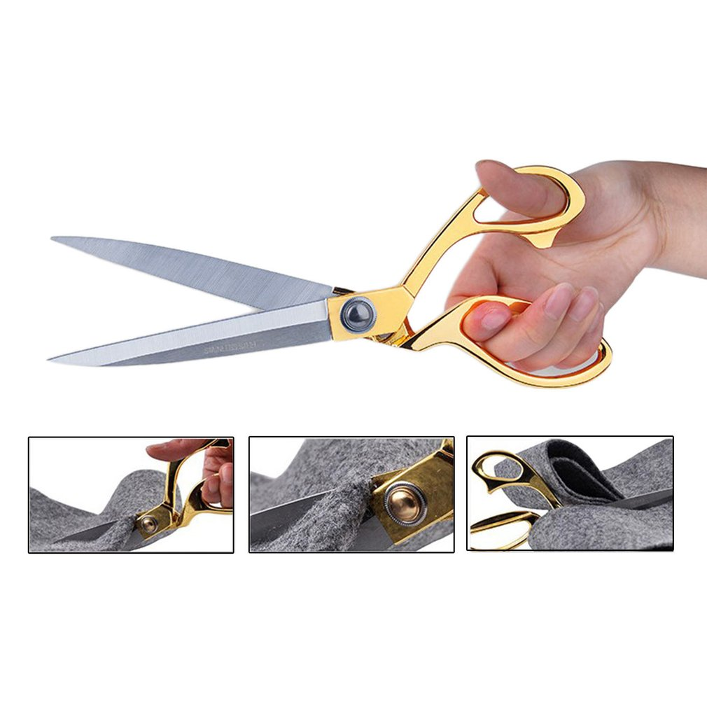 Stainless Steel Blade With Zinc Alloy Handle Tailor Sewing Scissors Professional Quality Shears Precise Cutting
