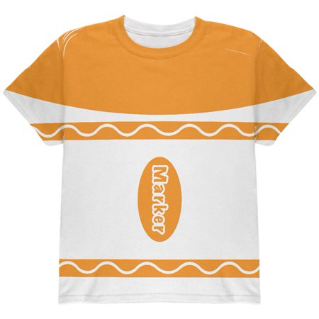 Halloween Marker Costume Orange All Over Youth T Shirt](Qc's 2020 Halloween)
